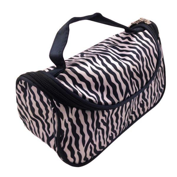 New Lady Cosmetic Nail Art Tool Bag Makeup Case Toiletry Holder Storage Zebra Fashion Nail Art Tool Bag