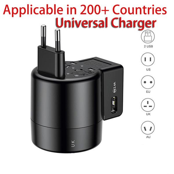 Marca autentica USB caricatore universale per Samsung Galaxy S8 S9 Inoltre portatile AC Alimentazione USB Travel Adapter Caricabatteria per iPhone HUAWEI