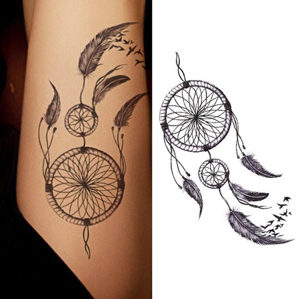 Mode imperméable Dreamcatcher Fakes Temporaire Tatouage Body Art Sticker Autocollants Tatouages ​​Temporaires