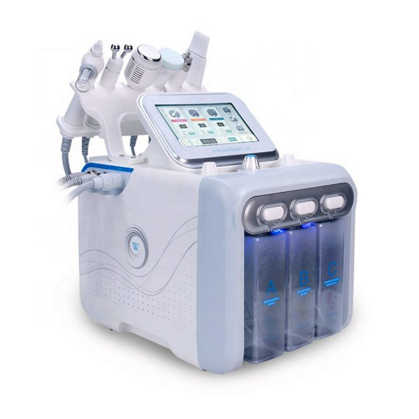 top popular New Arrival 6 in1 H2-O2 Hydro Dermabrasion Diamond Peeling Hydra Dermabrasion Aqua Peel Equipment 2020
