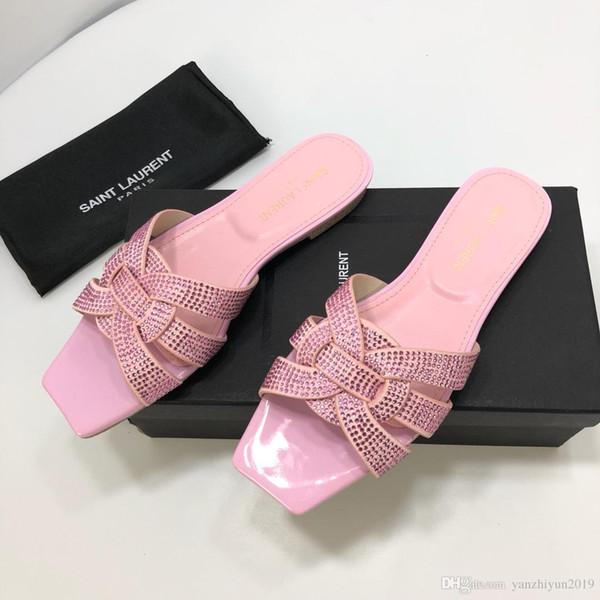 Slipper for women flip flops new style classic flat sandals lady leather shoes women flip flops Paris catwalk buckle rubber outsole