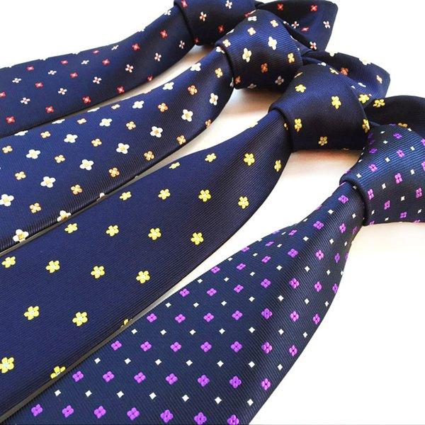 1200 Agujas Calidad 100% Seda Hombres Lazos Vino Flor floral azul Corbatas para hombres Desgaste clásico Gravatas de boda de negocios