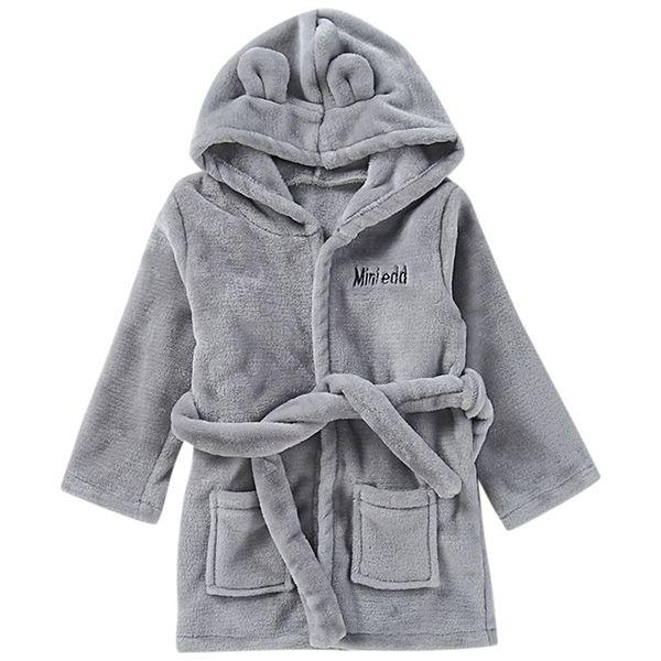 SAGACE Robes infant robe for children child Baby Towel bathrobe Solid Bathrobe Cotton Plush Hooded Bath Pajamas 19May28