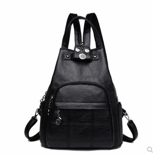 2019 summer fashion soft leather backpack fashion shoulder bag trend Messenger bag leather backpack anti-theft leather bag