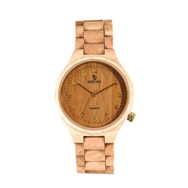 guardare la vigilanza orologi di lusso Men 'orologio di lusso smasculinogiftfashioncasQuartz Movimento mano Orologi da polso in legno Maschio