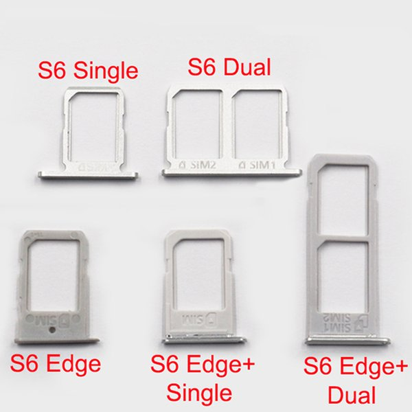 Replacement Parts for Samsung Galaxy S6 edge G925F S6 edge Plus G928F G920F SIM Card Slot Tray Holder Spare Parts Silver/Gold/Gray