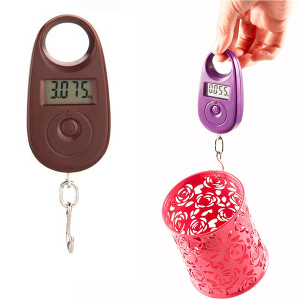 Pocket Portable Hook Lcd Weight Weighing Mini Electronic Digital Hanging Luggage Scale Portable Balance 25kg /5g