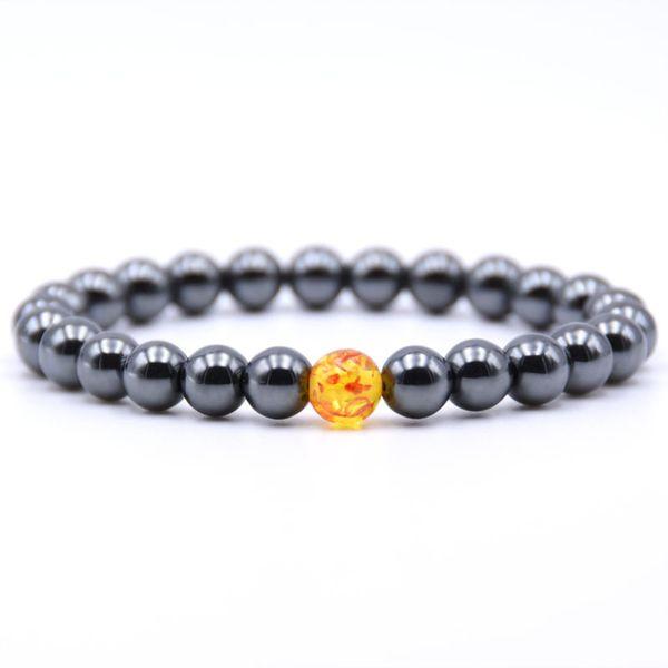 8MM brillantes para hombre del brazalete de cuentas naturales y para mujer de regalo pulsera de piedras de colores ágata en venta 12 PCS
