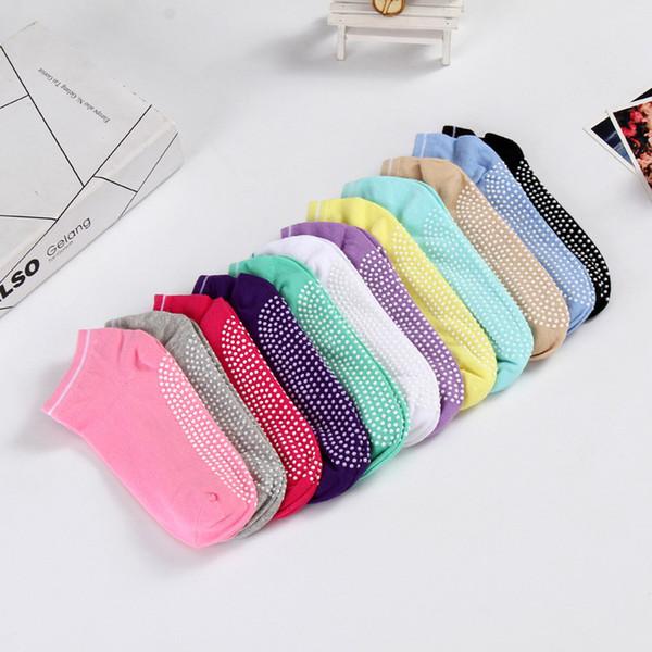 12styles yoga socks Anti-slip Socks Gym Pilates Ballet Socks ankle Fitness Sport floor Cotton Breathable Elasticity Sock FFA1862