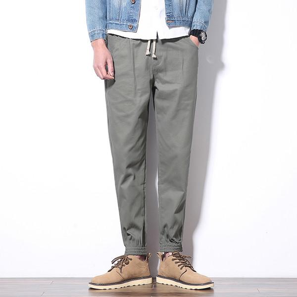 Mens Trousers Ankle-length Cotton Mens Harem Pant Joggers Casual Slim Fit Sweatpants Men Pants For Male