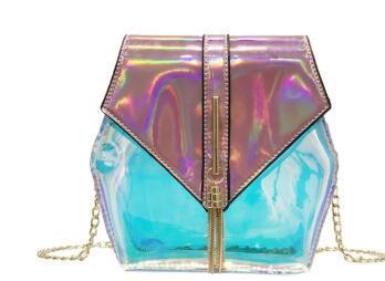 Laser clear jelly bag small bag women's bag 2019 new fashion versatile cross with Korean mini fairy single shoulder