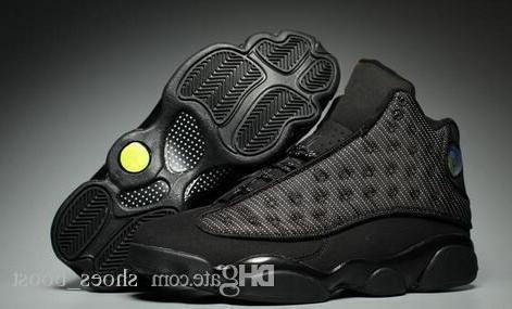 Toptan Yeni 13 Xiii Og Siyah Kedi Tüm Siyah 13 s Erkek Basketbol Ayakkabıları Spor Eğitmenler Sneakers Yüksek Kalite Boyutu 8-13