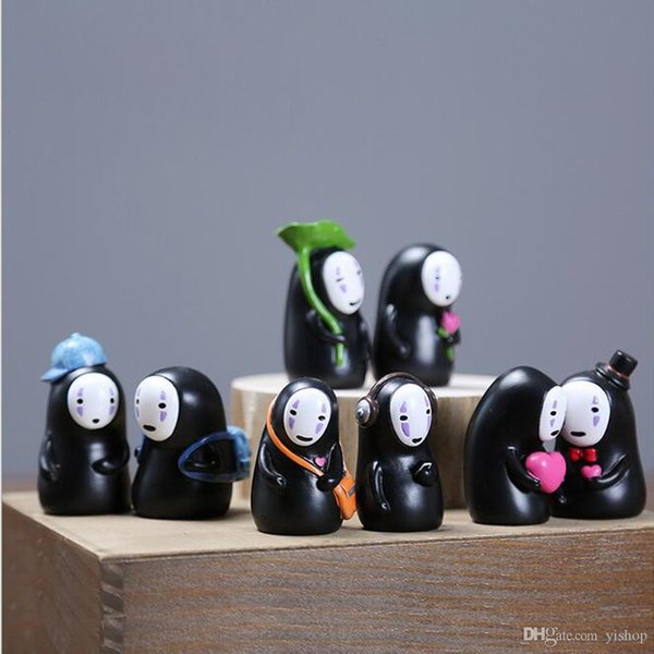 Lot Style Creative Miyazaki Spirited Away No Face Man Lovely Doll Fidget Toys Car Lovers' Ornament Car Home Party Decoration Toys Gift