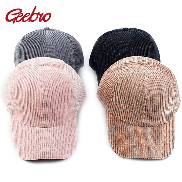 geebro baseball caps hat for women men casual hat travel sport trucker cap solid color ribbed dad winter spring outdoor