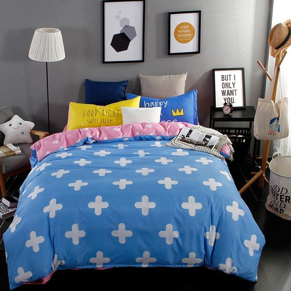 Wholesale-The Nordic style Bedding Set 4pcs Duvet Cover set twin Full queen size bed set printed sheet bed linen bedclothes Pillowcase