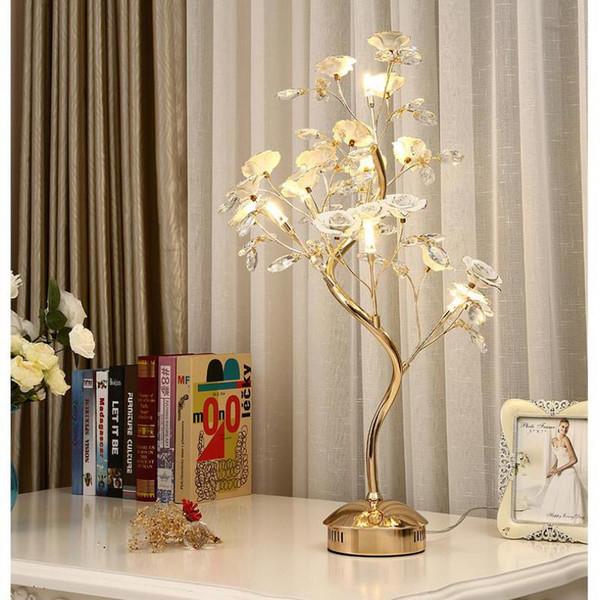 Salon Cristal De Acheter Arbre Blanc Mariage Accueil Debout Abajur 64 Foyerled Décoration Led Mesa513 Table Lamparas Rose Lampe AjR4q35L