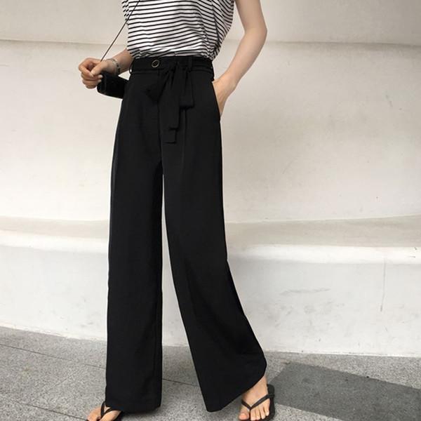 Palazzo Ancho De Mujer Talle Casual Pantalones Pantalón Loose Bolsillos Fit Verano 2019 Largos Para Nuevos Alto Ropa Compre VpqUMSz