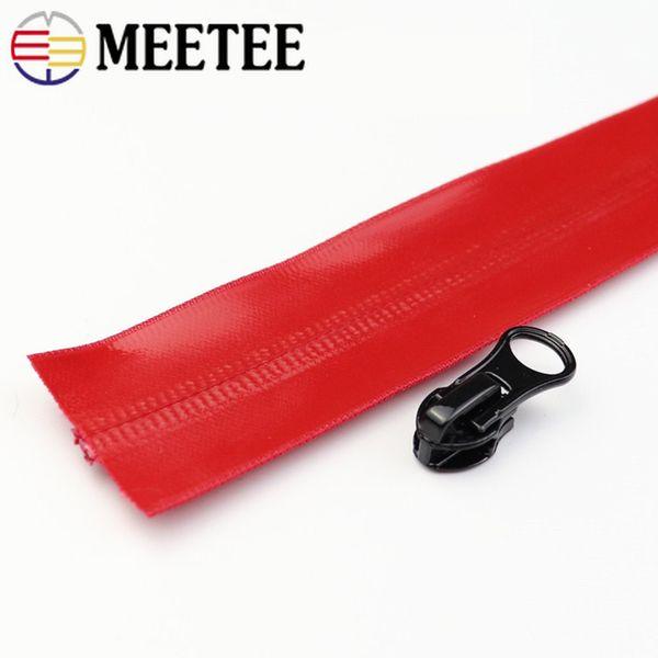 Acquista Meetee 2019 Nuovo 5 # Nylon Impermeabile Cerniera Codice Nylon Cerniera Borsa Fai Da Te All'aperto Giacca Abbigliamento Zip Su Misura