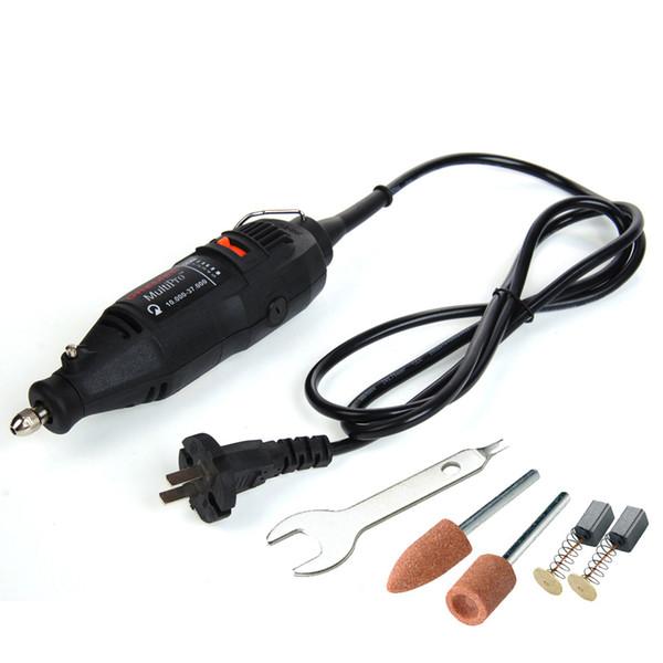 Eléctrico Mini taladro Dremel Herramientas Grabador para taladrado Rectificado Afilado Corte Grabado Limpieza Pulido Lijado