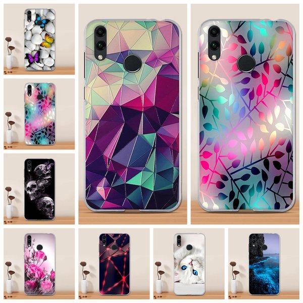 Cas Huawei Honor 8C Case Covers pas cher Aménagée en silicone Coque Huawei Honor Téléphone Soft Case 8c TPU Funda pour
