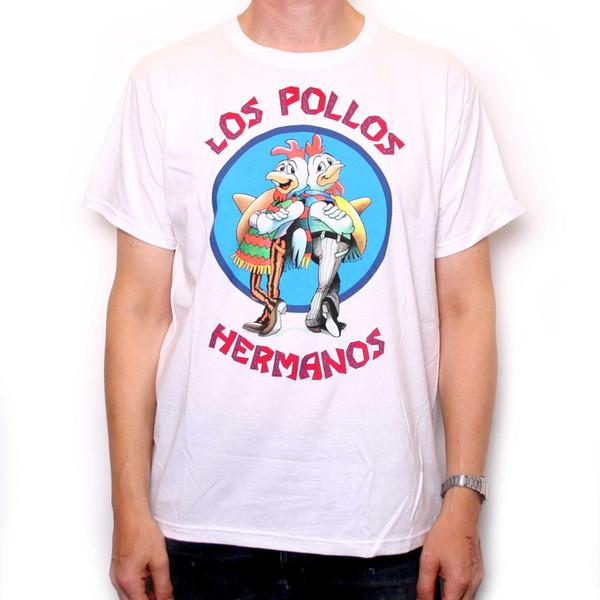 dd58065064 Breaking Bad Camiseta Pollos Hermanos 100% Oficial Branca Melhor Chamada  Saul VENDA! Nova moda
