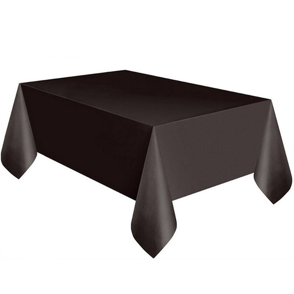 Large Plastic Rectangle Table Cover Cloth Wipe Clean Party Tablecloth Covers Black L0306