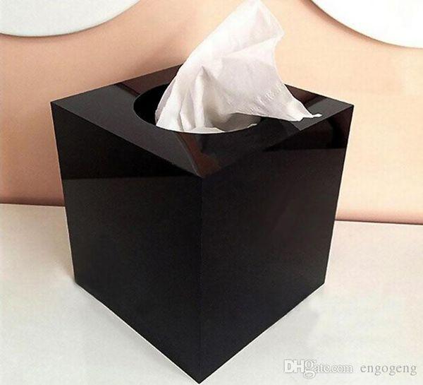 Classic style C tissue box acryl 2016 Christmas Gift VIP gift classic pattern C Logo Arcylic Cylinder Tissue Box