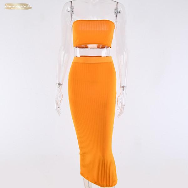 Spalla Off aderente autunno Winter Dress Women 2019 Due maglia pezzo pulsanti Split vita alta vestito da natale Stilisti