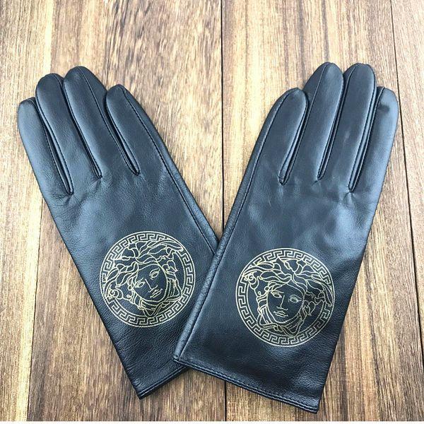 Guantes de cuero de alta calidad más guantes de terciopelo cálido para mujer Guantes de diseñador de conducción deportiva de invierno al aire libre Envío gratis