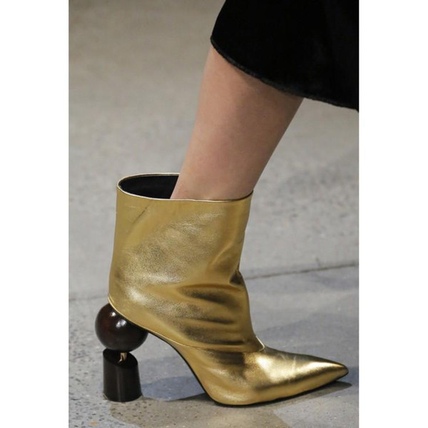 Fashion Shown Strange Style High Heels Fetish Ankle Boots Women Shoes Sexy Botines Spring Autumn Short Motorcycle Chelsea Boots