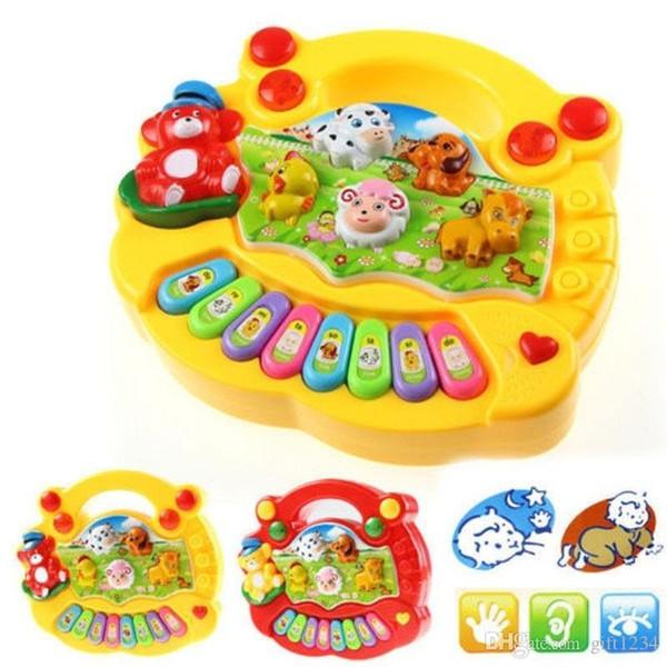 Bravo H regalo del bebé Niños Educativo Musical animal del campo de Piano del desarrollo de la música Juguete regalos T562