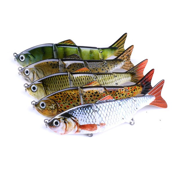 Fishing Wobbler Lifelike Fishing Lure 4 Segment Swimbait Crankbait Hard Bait 12cm 16.8g Artificial Lures Fishing Tackle