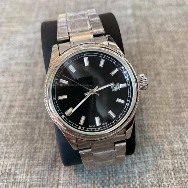 Fashion Male Top-Qualität neue Uhr 38mm Mann Uhren Luxus-Quarz-Uhr-Herr-Uhr Relogio Montre Beliebte Edelstahl Armbanduhr