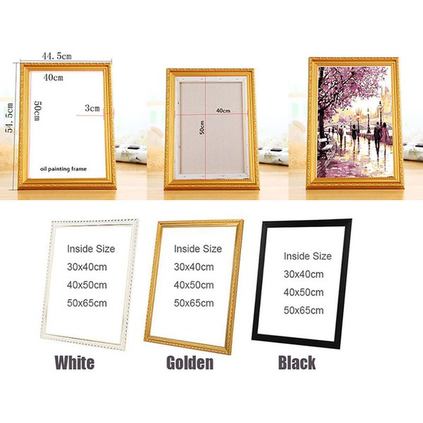 Suit for All kinds of diy oil painting by numbers wood frame wall Diamond painting embroidery picture frame Photo Picture
