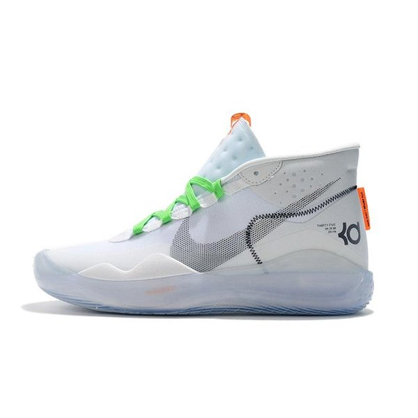 4cd9d1364b22b Womens kd 12 basketball shoes new White Foams XX Easters Yellow high top  boys girls kids
