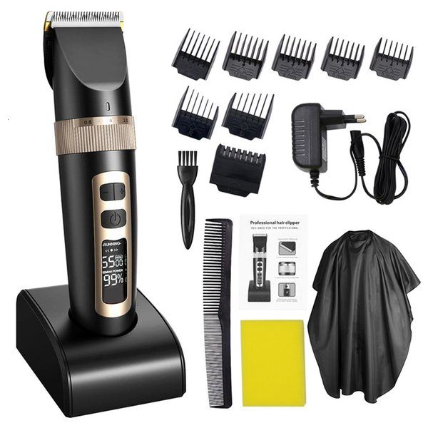 Professional Trimmer Electric Clipper For Men Children And Beards Hair Shaving Haircut Cutting Rechargeable MachineMX190925