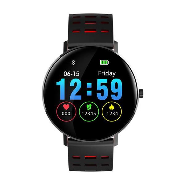 L6 smart watch bilezik renk tam ekran su geçirmez spor izci saat bileklik kalp hızı monitörü xiaomi ios android için