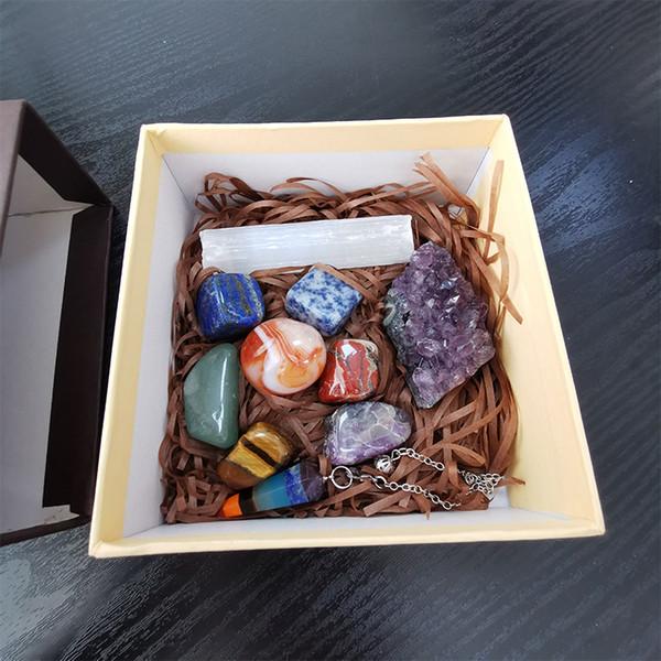 Wholesale chakra healing stones chakra stones set holistic healing stones crystal energy gravel Chakra Healing Tumbled Stone