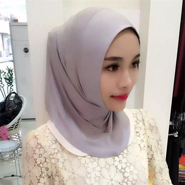 Fblus clurs Modal hijab Interior Mulheres Regulares Muçulmano Mini turbante Caps Lenço Islâmico de uma peça