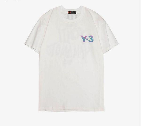 2009 Best-seller New Men's T-shirt Classic Black and White Y-3 Nuevo tipo Manga corta Reflectivo Cambio de color Caja de impresión Logo Moda Short S