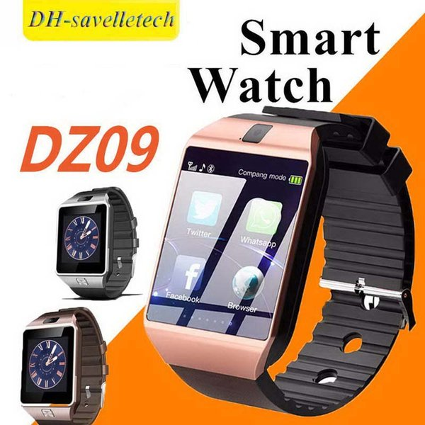 Smart Watch DZ09 Smart Wristband SIM Intelligent Android Sport Watch for Android Cellphones Smart Wrist Watch with High Quality Batteries