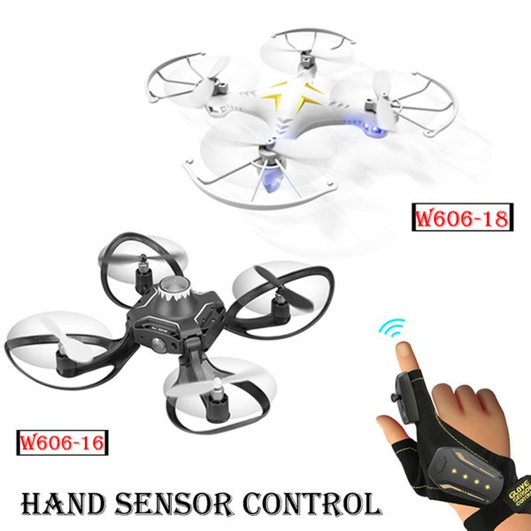 Mini Foldable RC Helicopter Glove Hand Sensor Gesture Sensing Wifi Control Drone Aircraft Toys with HD Camera FPV Quadrocopters