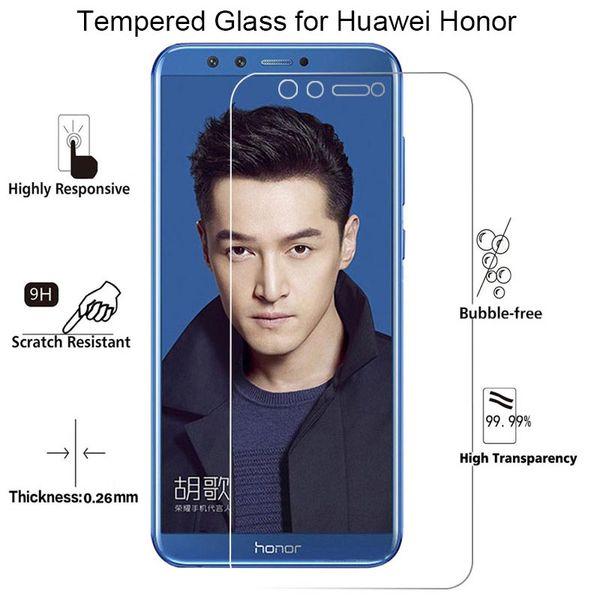 Şeffaf Ekran Cam için Huawei Onur 7 V8 8 Pro 7 S Onur 10 Lite için Temperli Cam V9 Oynamak için Görünüm 10 Cam Onur 9 Lite