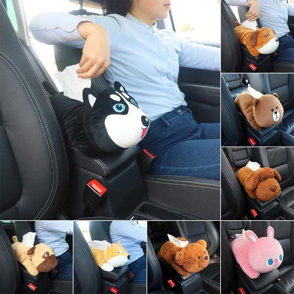 New High Quality Universal Armrest Creative Cartoon Cute Tissue Box Interior Products Car Accessories C19042101
