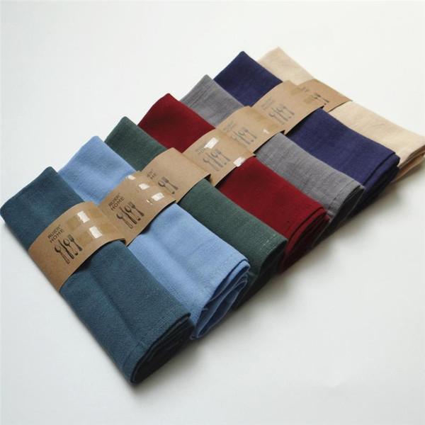 30 * 40cm di alta qualità tinta unita panno di lino tovaglioli di tè asciugamani di buona acqua assorbimento casa panno di cucina