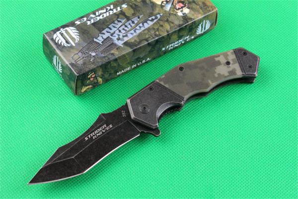STRIDER 352 Tactical Camo Folding Flipper Messer 440C Klinge Tanto Fast-Open EDC Outdoor Tools Survival Gear Weihnachtsgeschenk Messer Für Männer P146F Q