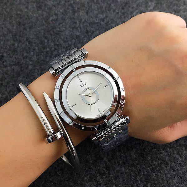Nouveau diamant style pandora montre en acier inoxydable designer de luxe Casual montre-bracelet en acier montre à quartz mk dz dw femmes montres