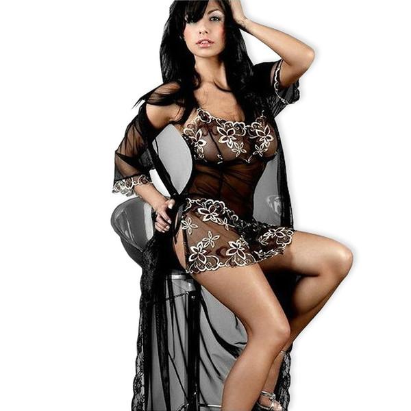 info for c7386 5d3fc Großhandel Sexy Dessous Plus Größe XL XXL XXXL 5XL 6XL Frauen Stickerei  Schwarz Spitze Wäsche Heiße Unterwäsche Sheer Nachthemd Sleepwear Für  Frauen ...