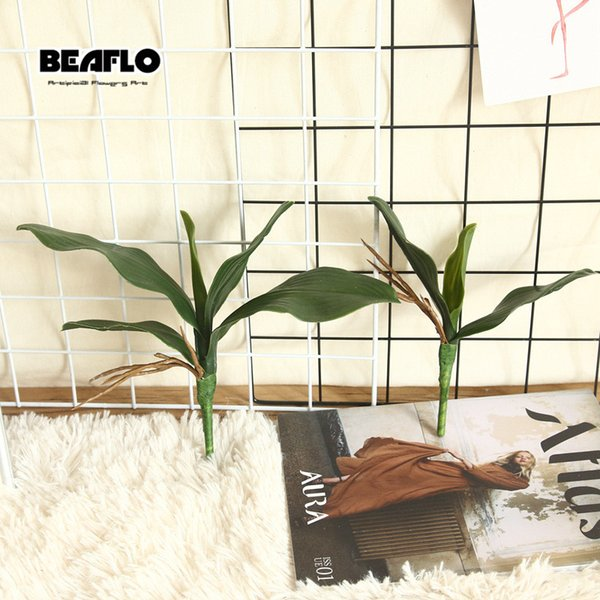 1pc Orchid Leaves Artificial Plant Decorative Flowers Auxiliary Material Flower Decoration Phalaenopsis Leaf Bride Wedding Decor