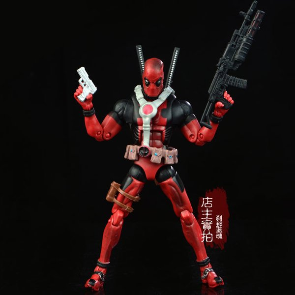 17cm Marvel Univers Super Heros Deadpool Action Figure Collection Toys For Christmas Gift Weapons Free Shipping Y190604